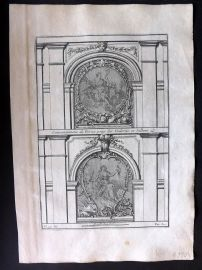 Vignola 1738 Architectural Print. Decoration for Doors, Gallery 99M